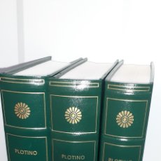 Libros: PLOTINO. ENEADAS I,II,III, BIBLIOTECA GREDOS. 146,147,148.. Lote 277128868