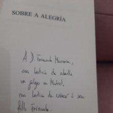 Libros: SOBRE A ALEGRIA XOSE MANUEL DOMINGUEZ PRIETO. Lote 277152018