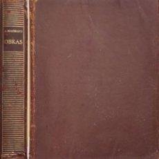 Libros: OBRAS - ANTONIO MACHADO. Lote 277231043