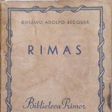 Libros: RIMAS - GUSTAVO ADOLFO BÉCQUER. Lote 277231088