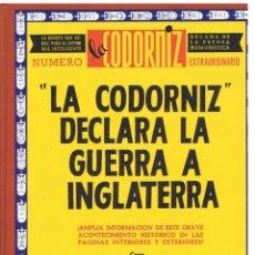 Libros: LA CODORNIZ DECLARA LA GUERRA A INGLATERRA - LA CODORNIZ.. Lote 277483313