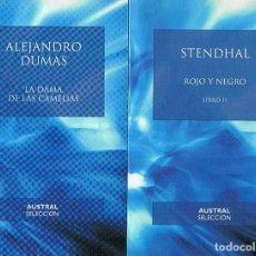 Libros: LA DAMA DE LAS CAMELIAS * ROJO Y NEGRO. LIBRO II. (2 VOLS.) - DUMAS. ALEJANDRO, / STENDHAL. Lote 277483578