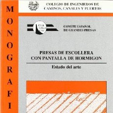 Livres: PRESAS DE ESCOLLERA CON PANTALLA DE HORMIGÓN - VVAA. Lote 278152953