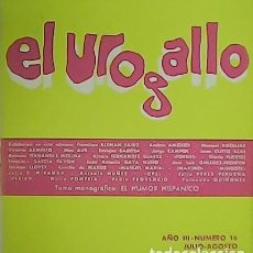 Libros: EL UROGALLO. REVISTA LITERARIA BIMESTRAL. AÑO III. Nº 16 TEMA MONOGRÁFICO: EL HUMOR HISPÁNICO. COLA. Lote 278208948
