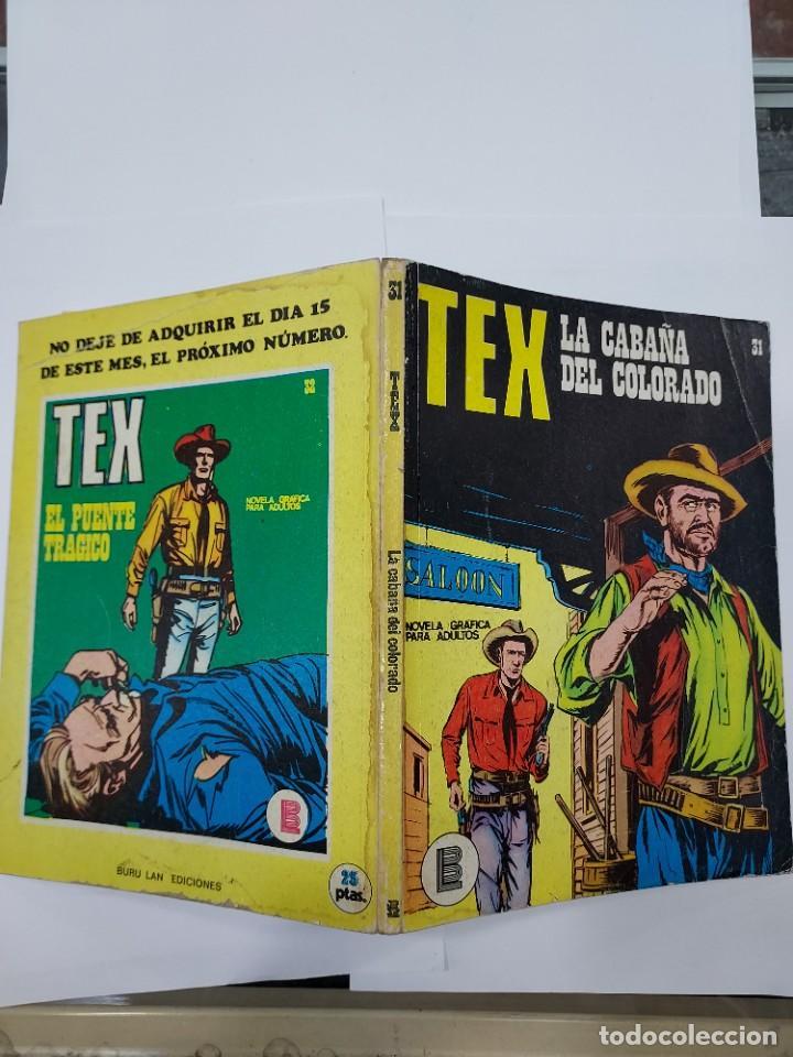 Libros: TEX (1970, BURU LAN) 31 · 1971 · LA CABAÑA DEL COLORADO - Foto 2 - 278278138