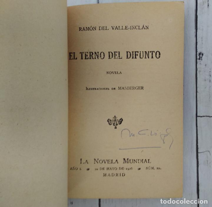 Libros: El terno del difunto (primera edición) - Ramón María del Valle Inclán - Foto 2 - 278371543