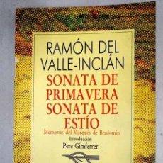 Libros: SONATA DE PRIMAVERA ; SONATA DE ESTÍO : MEMORIAS DEL MARQUÉS DE BRADOMÍN.- VALLE-INCLÁN, RAMÓN DEL. Lote 278437408