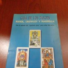 Libros: GUIA DE LOS TAROTS, RIDER, CROWLEY Y MARSELLA - HAJO BANZHAF Y ELISA HEMMERLEIN. Lote 278689158