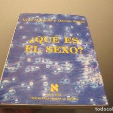Libros: ¿QUÉ ES EL SEXO? - LYNN MARGULIS. Lote 42290824