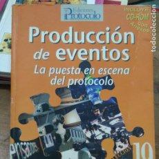 Libros: LIBRO PRODUCCIÓN DE EVENTOS LA PUESTA EN ESCENA DEL PROTOCOLO GLORIA CAMPOS 2008 ART-548-1076. Lote 278948958