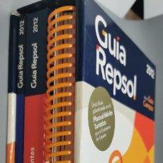 Libros: GUIA REPSOL 2012 - INCLUYE 3 GUIAS: GUIA DE CARRETÈRAS, GUIA DE RESTAURANTES Y GUIA DE RUTAS. Lote 279404208