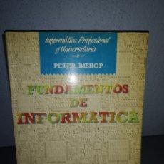 Libros: T2. L10. LIBRO FUNDAMENTOS DE LA INFORMÁTICA. PETER BISHOP. ANAYA. Lote 282183793