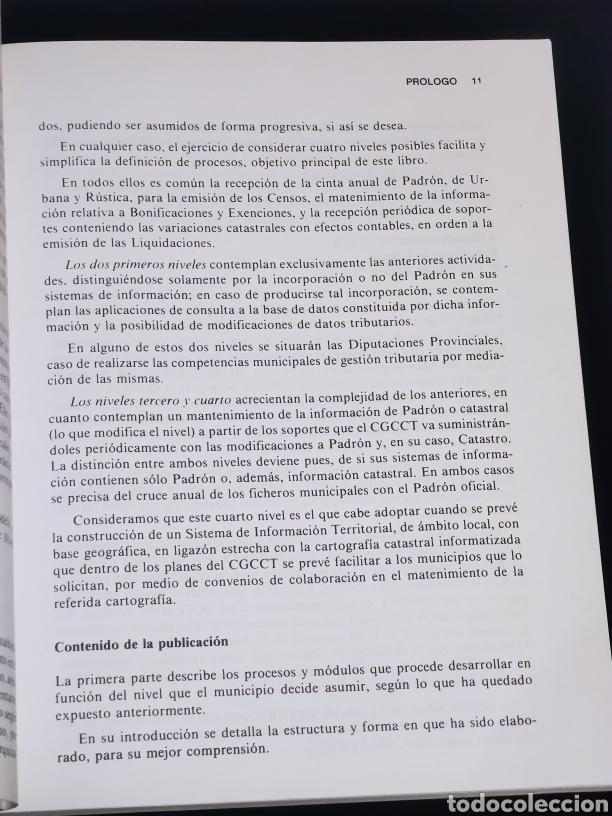 Libros: Manual informatico para la gestion tributaria del ibi. Año 1989. - Foto 4 - 147246236