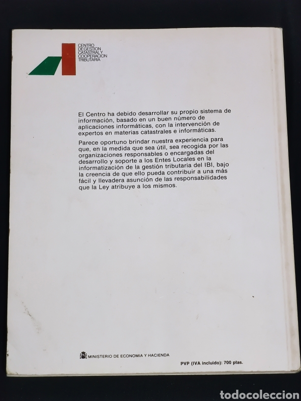 Libros: Manual informatico para la gestion tributaria del ibi. Año 1989. - Foto 6 - 147246236