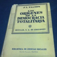 Libri di seconda mano: LOS ORÍGENES DE LA DEMOCRACIA TOTALITARIA - J.L. TALMON. Lote 286599513