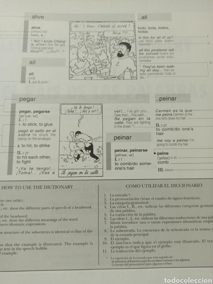 Libros: HARRAPS TINTIN ILLUSTRATED DICTIONARY: ENGLISH/SPANISH SPANISH/ENGLISH. - Foto 2 - 286646713