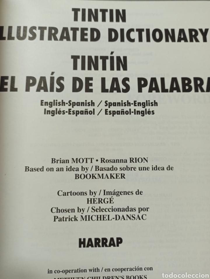 Libros: HARRAPS TINTIN ILLUSTRATED DICTIONARY: ENGLISH/SPANISH SPANISH/ENGLISH. - Foto 3 - 286646713