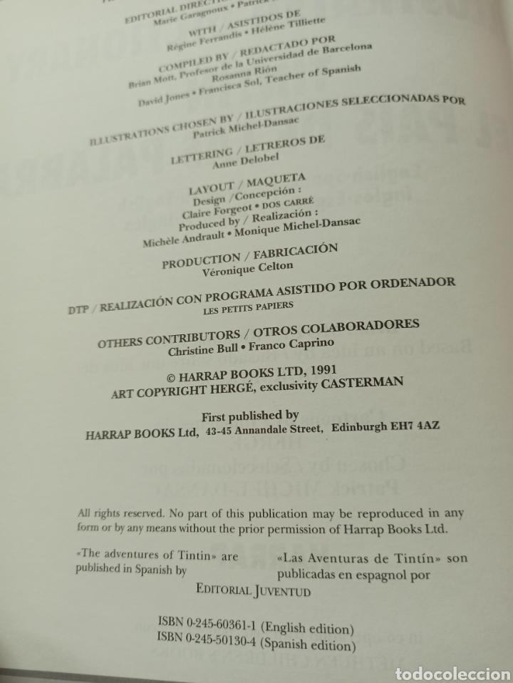 Libros: HARRAPS TINTIN ILLUSTRATED DICTIONARY: ENGLISH/SPANISH SPANISH/ENGLISH. - Foto 4 - 286646713