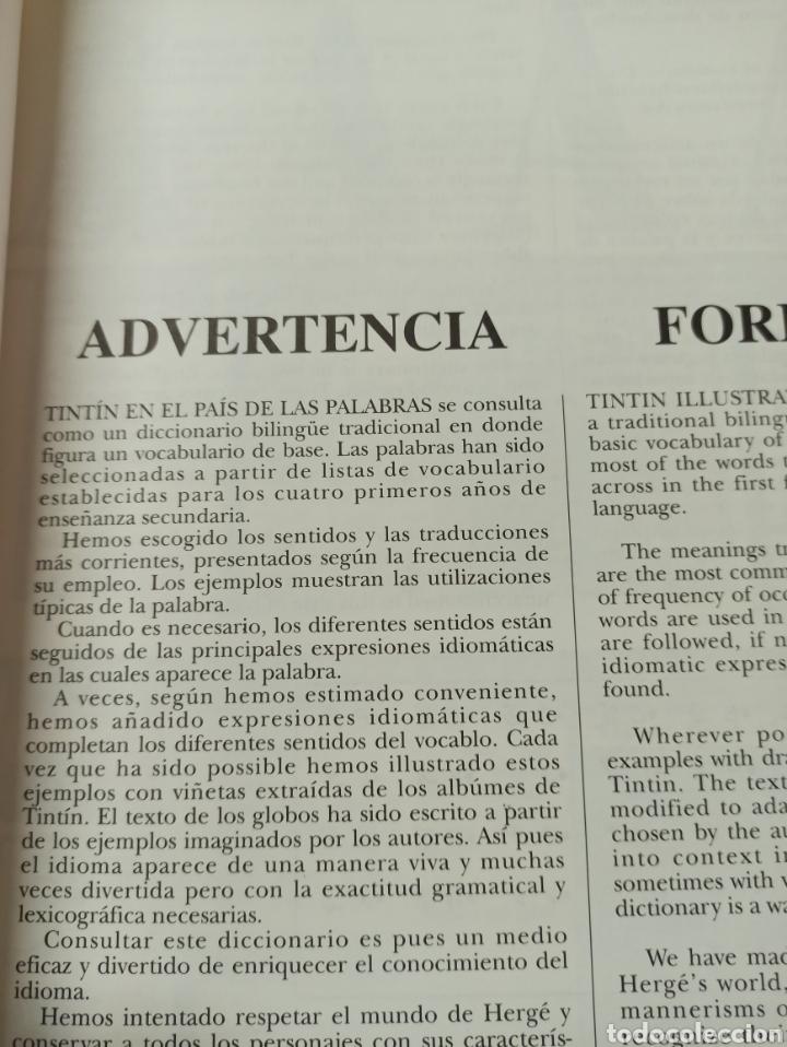 Libros: HARRAPS TINTIN ILLUSTRATED DICTIONARY: ENGLISH/SPANISH SPANISH/ENGLISH. - Foto 5 - 286646713