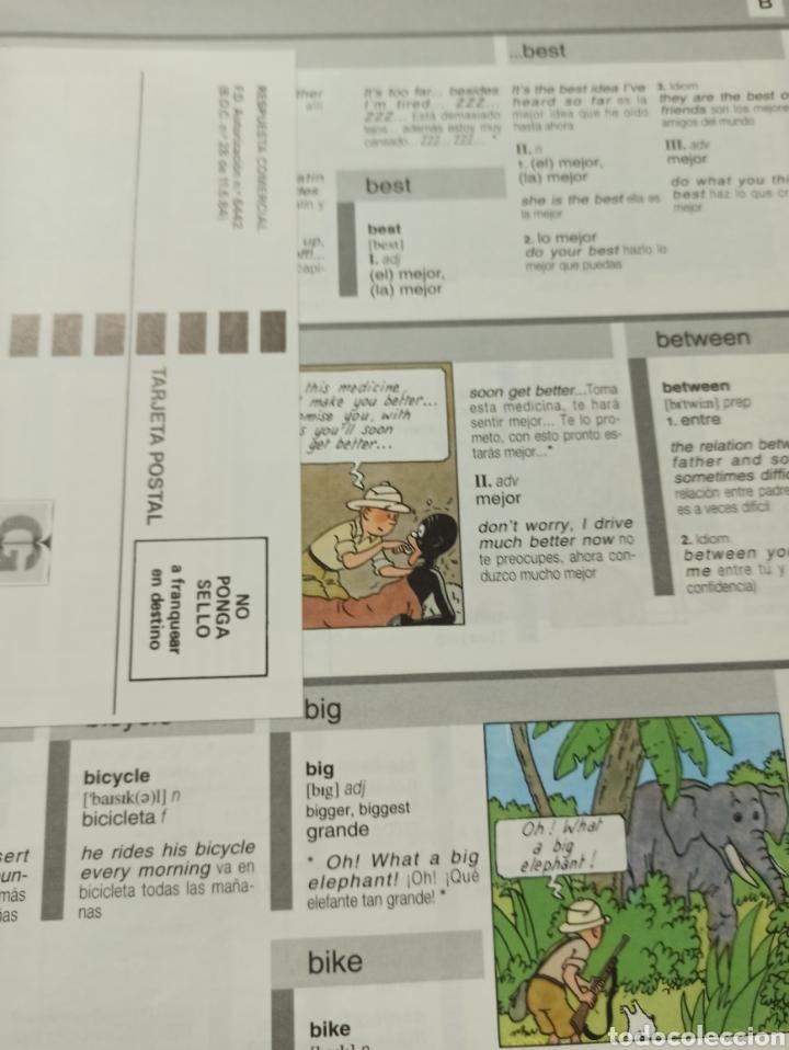 Libros: HARRAPS TINTIN ILLUSTRATED DICTIONARY: ENGLISH/SPANISH SPANISH/ENGLISH. - Foto 7 - 286646713