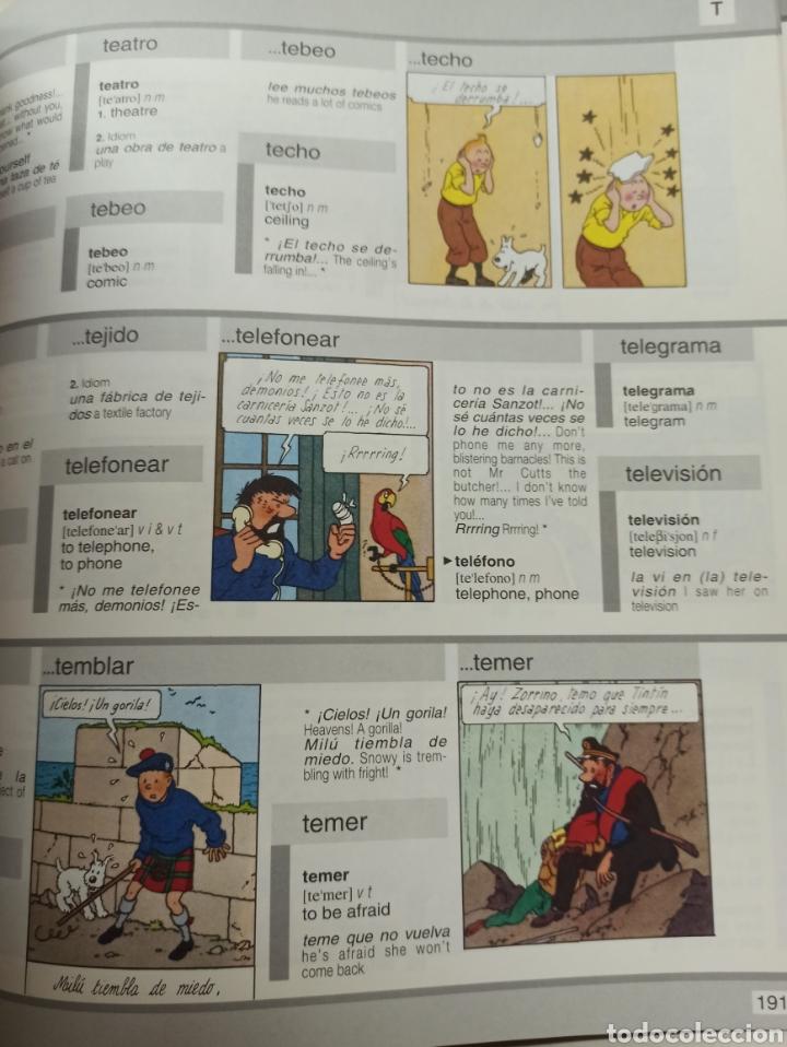 Libros: HARRAPS TINTIN ILLUSTRATED DICTIONARY: ENGLISH/SPANISH SPANISH/ENGLISH. - Foto 12 - 286646713