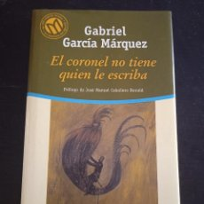 Libros: EL CORONEL NO TIENE QUIEN LE ESCRIBA- GABRIEL GARCÍA MARQUEZ. Lote 286929338