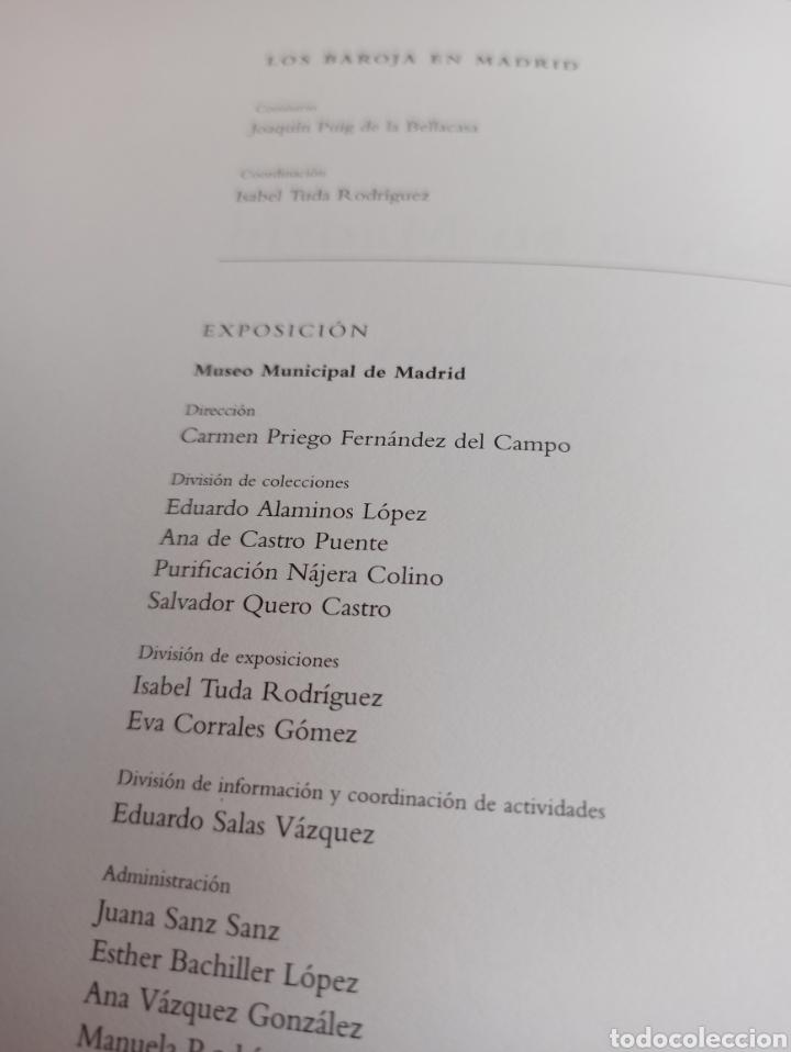 Libros: Los Baroja en Madrid catálogo exposición Museo Municipal 1997 - Foto 2 - 287677048