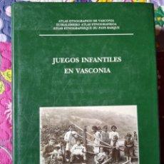 Libros: JUEGOS INFANTILES EN VASCONIA.. Lote 287852658