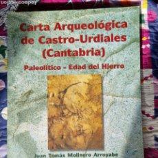 Libros: CARTA ARQUEOLÓGICA DE CASTRO URDIALES. MOLINERO ARROYABE. Lote 287900123