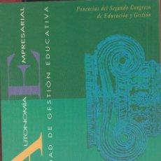 Libros: AUTONOMIA EMPRESARIAL JORGE.O. FUNES AÑO 1993 ED.SM.143PGAS LE4255. Lote 288003103