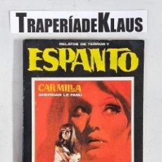 Libros: RELATOS DE TERROR Y ESPANTO - CARMILLA- SHERIDAN LE FANU - TDK97 -. Lote 288157043