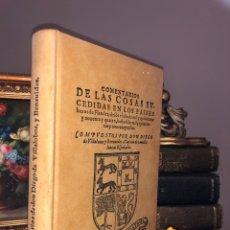 Libros: COMENTARIOS DON DIEGO VILLALOBOS Y BENAUIDES FASCIMIL. Lote 288157828
