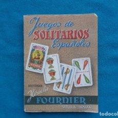 Libros: JUEGOS DE SOLITARIOS ESPAÑOLES, HERACLIO FOURNIER. 1952. Lote 288416823