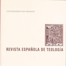 Libros: REVISTA ESPAÑOLA DE TEOLOGIA DIRECTOR J. PRADES AÑO.2012 ED KADMOS 407 PGAS LE4257. Lote 288429268