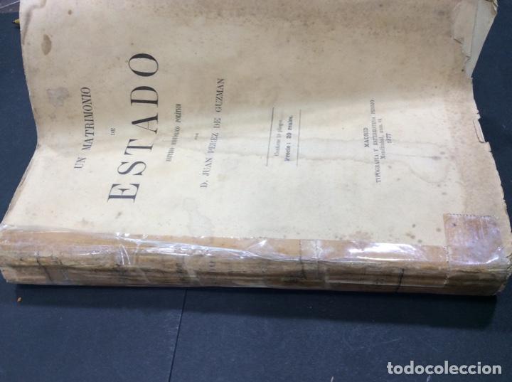 Libros: Un Matrimonio de Estado. Estudio Histórico Político. D.JUAN PEREZ DE GUZMAN - Foto 3 - 288543333