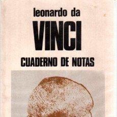 Libros: CUADERNO DE NOTAS - LEONARDO DA VINCI. Lote 288646283