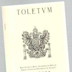 Libros: TOLETUM, SEPARATA 35, 2º SEMESTRE - VVAA. Lote 288691993
