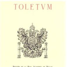 Libros: TOLETUM 34, 1º SEMESTRE - VVAA. Lote 288692708