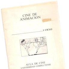 Libros: CINE DE ANIMACIÓN, I CICLO - MANUEL PALACIOS Y OTROS. Lote 288692718