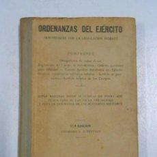 Libros: ORDENANZAS DEL EJÉRCITO. ARMONIZADAS CON LA LEGISLACION VIGENTE. MADRID 1947. - VVAA. TDK227. Lote 288733723