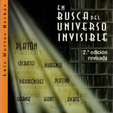 Libros: EN BUSCA DEL UNIVERSO INVISIBLE - MARTOS HERBÁS, LUIS. Lote 288859093