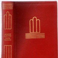 Libros: TEATRO ESCOGIDO - ÁLVAREZ QUINTERO, SERAFÍN Y JOAQUÍN. Lote 288859108