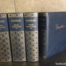 Libros: OBRAS COMPLETAS DE CONRAD. AGUILAR. 4 TOMOS.. Lote 288969373