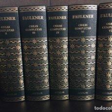 Libros: LOTE DE 5 LIBROS DE LAS OBRAS COMPLETAS DE FAULKNER. AGUILAR.. Lote 288969378