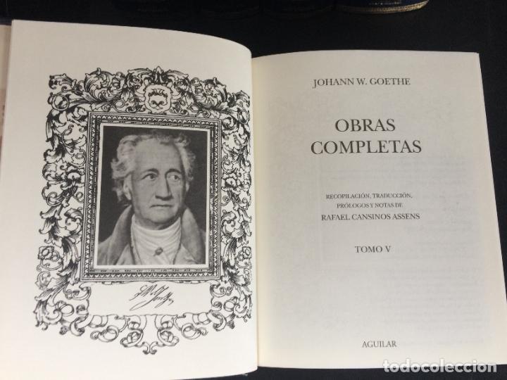 Libros: GOETHE. OBRAS COMPLETAS. TOMO DEL I AL V. AGUILAR. - Foto 2 - 288969383