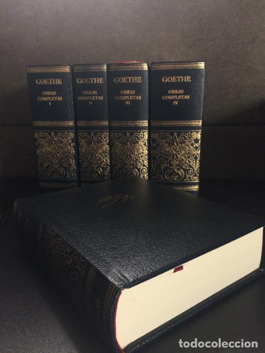 Libros: GOETHE. OBRAS COMPLETAS. TOMO DEL I AL V. AGUILAR. - Foto 4 - 288969383