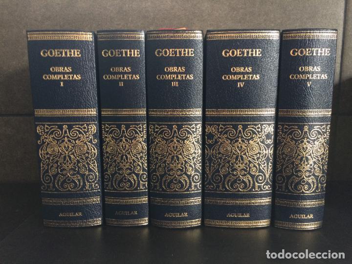 GOETHE. OBRAS COMPLETAS. TOMO DEL I AL V. AGUILAR. (Libros sin clasificar)