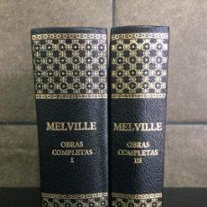 Libros: 2005. MELVILLE. OBRAS COMPLETAS. TOMOS I Y III. AGUILAR.. Lote 288969393