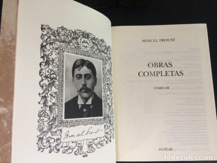 Libros: 2004. PROUST. OBRAS COMPLETAS. AGUILAR. 3 TOMOS. OBRA COMPLETA EN 3 TOMOS. - Foto 2 - 288969413