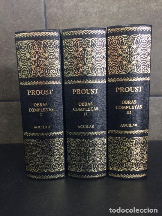 2004. PROUST. OBRAS COMPLETAS. AGUILAR. 3 TOMOS. OBRA COMPLETA EN 3 TOMOS. (Libros sin clasificar)